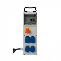 COFFRET DE CHANTIER 4 PRISES NF 250V - ARRET D'URGENCE  - 2M H07RNF 3G2
